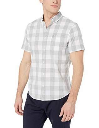 Original Penguin Men's Short Sleeve Plaid Button Down Shirt