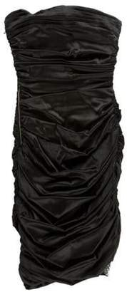 Thomas Wylde Embellished Strapless Silk Mini Dress w/ Tags Black Embellished Strapless Silk Mini Dress w/ Tags
