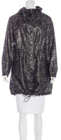 ValentinoValentino Lace-Overlay Hooded Coat