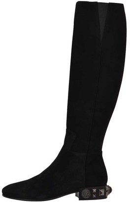 Dolce & Gabbana Black Suede High Boots