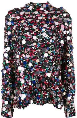 MSGM embellished blouse