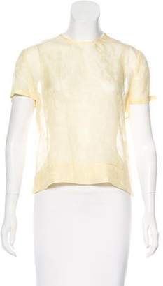 Calvin Klein Collection Silk Short Sleeve Top