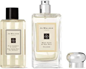 Jo Malone Wood Sage & Sea Salt Cologne And Black Cedarwood & Juniper Body Wash Set - Colorless