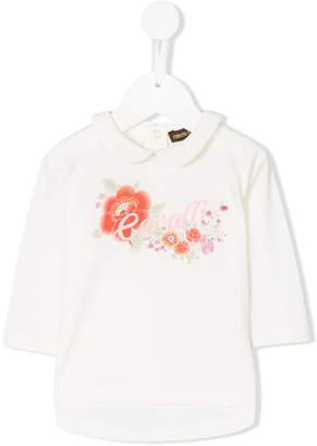 Roberto Cavalli flowers embellished blouse