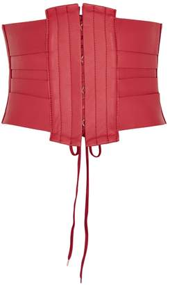 Rebecca Vallance Holly Red Leather Waist Belt