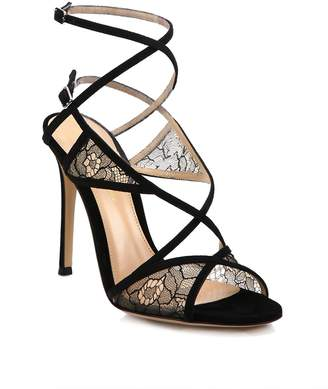 Gianvito Rossi Women's Lace & Suede Strappy Sandals