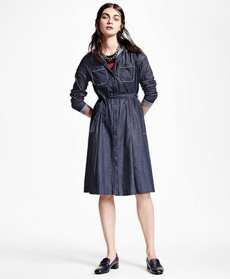 Washed Chambray Shirt Dress $328 thestylecure.com