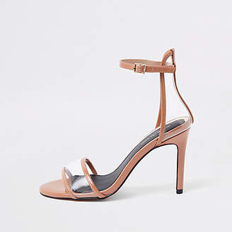 River Island Light pink perspex barely there sandals