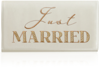 Preciously Paris Just Married Satin Clutch