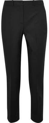 Michael Kors Collection - Samantha Cropped Cotton-blend Straight-leg Pants - Black