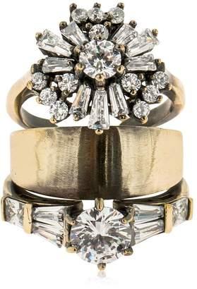Iosselliani Stacked Ring W/ Zircon