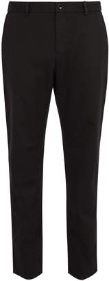 Gucci Embroidered cotton chino trousers