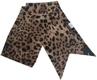 Dolce & Gabbana Brown Wool Scarves