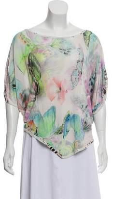 Blumarine Silk Printed Blouse