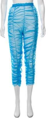 Molly Goddard Sheer Ruched Leggings w/ Tags