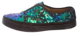 Paul Smith Sequin-Embellished Low-Top Sneakers