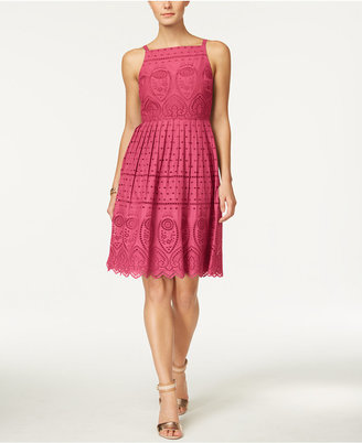 Charter Club Cotton Lace Halter Dress, Created for Macy's $139.50 thestylecure.com