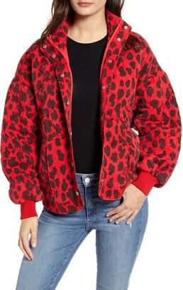 Blank NYC BLANKNYC Leopard Print Quilted Jacket