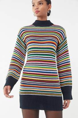 Urban Outfitters Striped Knit Mini Sweater Dress