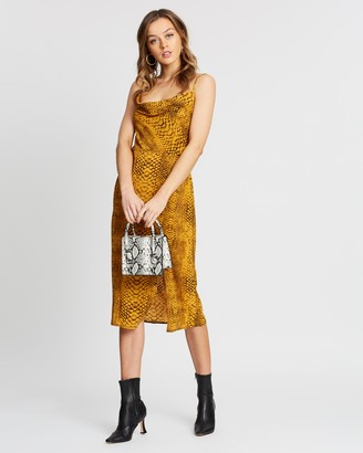 Missguided Cowl Slip Midi Dress