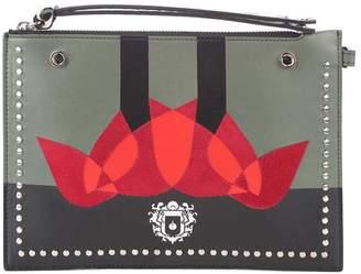 Paula Cademartori Clutch 'mini Pouch Love' Suede And Leather Clutch