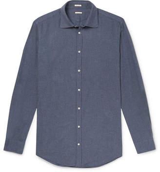 Massimo Alba Cotton-Flannel Shirt - Men - Blue