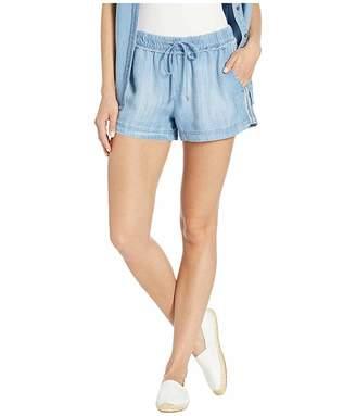 Bella Dahl Stripe Trim Pleat Front Shorts