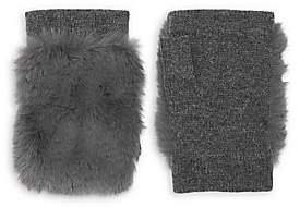 Carolina Amato Women's Faux Fur & Knit Fingerless Gloves