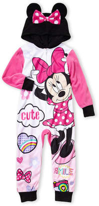 Minnie Mouse (Girls 4-16) Hooded Cutie Minnie Footed Pajamas