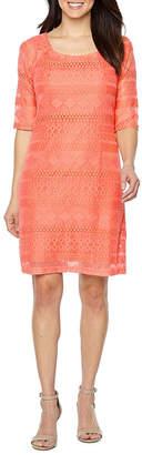 Rabbit Rabbit Rabbit DESIGN Design 3/4 Sleeve Lace Sheath Dress