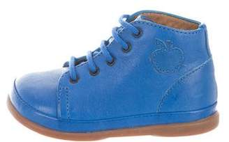 Pom D'Api Boys' Leather High-Top Sneakers