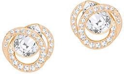 Swarovski Generation Pear Crystal Rose Goldplated Earrings