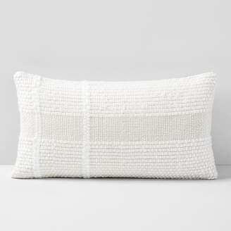 west elm Corded Basketweave Lumbar Pillow Cover