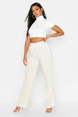 boohoo Side Stripe Wide Leg Sweat Joggers