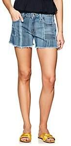 Derek Lam 10 Crosby Women's Liv Girlfriend Denim Shorts-Blue