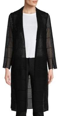 Akris Open Front Semi-Sheer Silk Coat