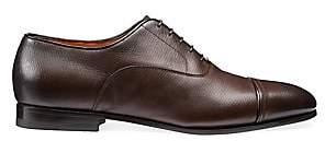 Santoni Men's Cap Toe Lace-Up Dress Shoes