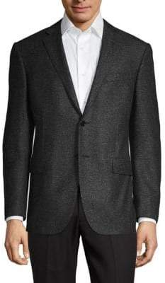 Corneliani Classic-Fit Wool & Silk Donegal Tweed Suit Jacket