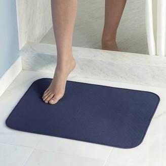 InterDesign iDry Microfiber Shower and Bath Mat, Large, Navy
