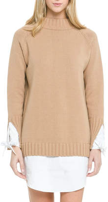 ENGLISH FACTORY Contrasting Sweater Dress