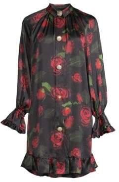 Mother of Pearl Women's Esme Rose Print Dress - Red Elizabeth Rose - Size Medium