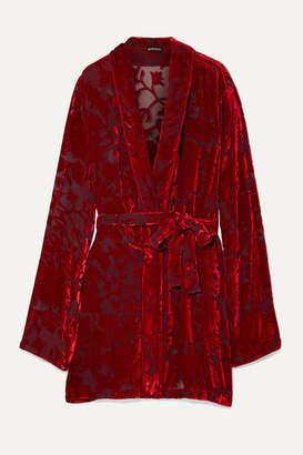 Ann Demeulemeester Peignoir Devoré-chiffon Wrap Dress - Red