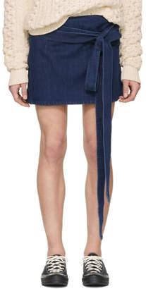 J.W.Anderson Indigo Denim Wrap Miniskirt