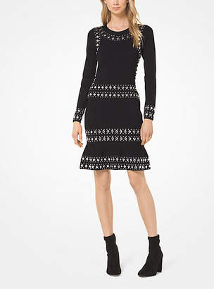 Michael Kors Studded Stripe Dress