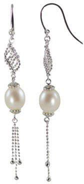 FINE JEWELRY Rice Pearl Tassel Earrings Sterling Silver