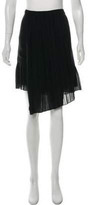 Christian Dior Pleated Knee-Length Skirt Black Pleated Knee-Length Skirt
