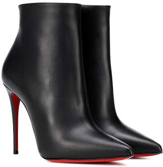814878e073c1 Christian Louboutin Black Leather Upper Boots For Women - ShopStyle UK