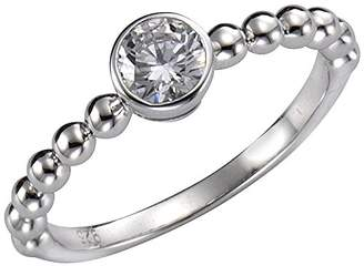 Celesta Women 925 Silver Round White Zircon