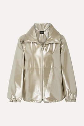 Akris Veronique Metallic Wool-blend Taffeta Jacket