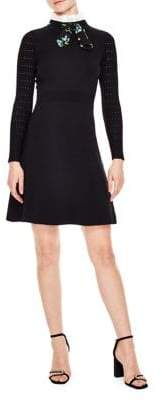 Sandro Notting Hill Clemence Bow Collar Dress